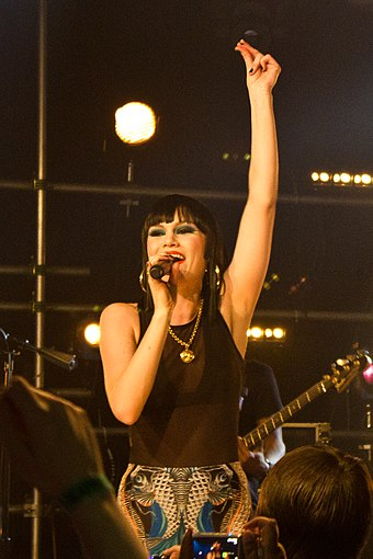 Jessie J performing at a concert in New York City in 2011 Jessie J in NYC2.jpg