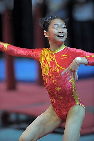 Jiang Yuyuan - Jiang Yuyuan doing floor exercise in Hong Kong