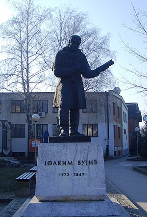 Joakim Vujić - In front of the Knjaževsko-srpski teatar is the monument to the father of the Serbian theatre art – Joakim Vujić