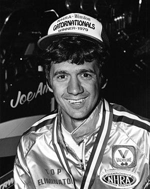 Joe Amato (dragster driver) - Joe Amato after winning the 1979 Gatornationals.