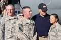 Joe Biden visits with servicemembers on the flightline at Baghdad International Airport, 2010.jpg