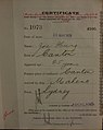 Joe Hung Auckland Chinese poll tax certificate butts Certificate issued at Auckland.jpg