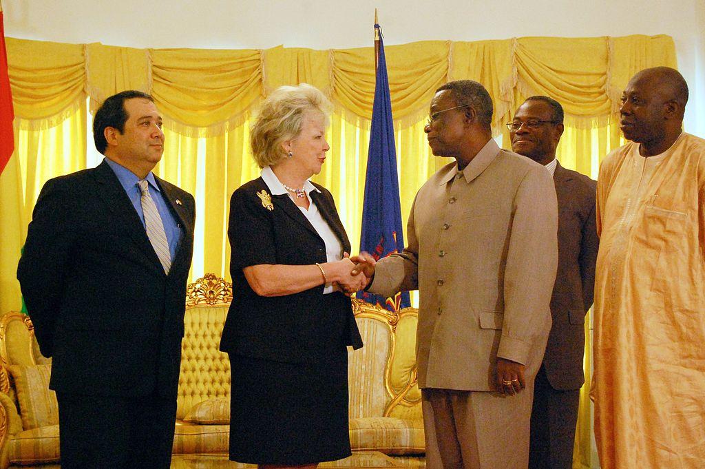 File:John Atta Mills with Mary Carlin Yates, AFRICOM March ...