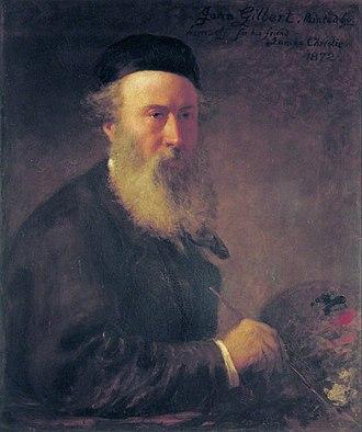 John Gilbert (painter) - Self-portrait, 1872.