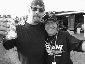 Johnny Dare - Johnny Dare with AC/DC frontman Brian Johnson