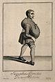 Joseph Clark, a contortionist. Line engraving by P. Tempest Wellcome V0007038.jpg