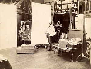 Jules Joseph Lefebvre - Jules Lefebvre in his studio