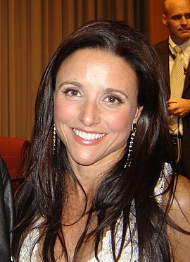 Louis-Dreyfus representing her role from TNAOC at the Museum of Television & Radio in April 2007 Julia Louis-Dreyfus in 2007.jpg
