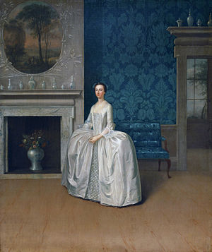 1757 in art - Image: Juliana Penn (née Fermor) by Arthur Devis (1712 1787)