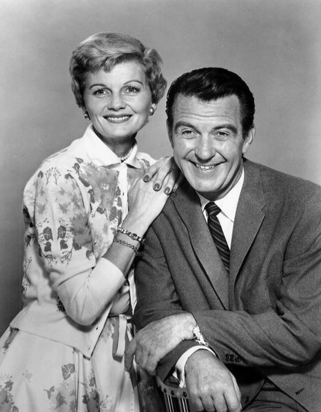Barbara Billingsley and Hugh Beaumont as June and Ward Cleaver