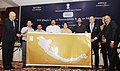 """K. Chiranjeevi releasing the Himalayan map, at the launch of the campaign """"777 Days of Incredible Indian Himalaya"""" on the occasion of World Tourism Day, in New Delhi on September 27, 2013.jpg"""