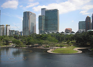 The KLCC Park (as seen towards the southeast f...