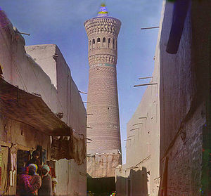 Kalyan minaret - The minaret in 1909