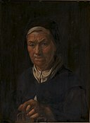 Karel van III Mander - Portrait of an Old Woman, Wife of Christian Jacobsen Drakenberg, née Bagge (^) - KMS1381 - Statens Museum for Kunst.jpg