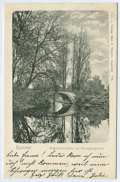 File:Karl F. Wunder PC 0772 Hannover Augustenbrücke im Georgengarten.jpg