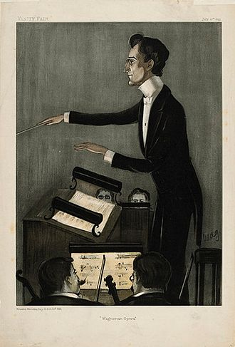 Karl Muck - Muck caricatured by WAG for Vanity Fair, 1899