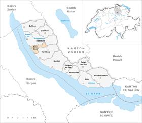 Karte Gemeinde Erlenbach 2007