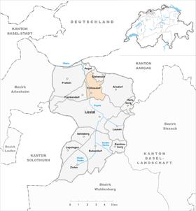 Map of Füllinsdorf