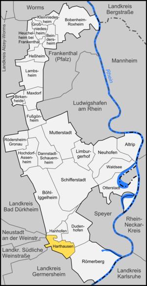 Harthausen - Image: Karte Harthausen