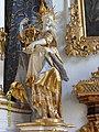 Katharina von Alexandrien, Altarfigur in der Kirche Maria de Victoria in Ingolstadt, hier im ehemaligen Kongregationssaal der Marianischen Kongregation an der Universität Ingolstadt als Patronin der Philosphischen Fakultät.JPG