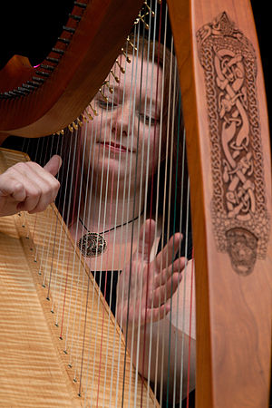 Celtic music - Celtic harp performed at a Celtic festival in 2010