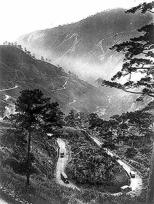 Kennon Road - Kennon Road near Camp 7, Baguio in 1918