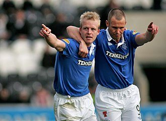 Steven Naismith - Naismith celebrated with Kenny Miller in November 2010.