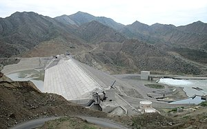 Khomarlu - Khoda Afarin Dam at the final phase of construction
