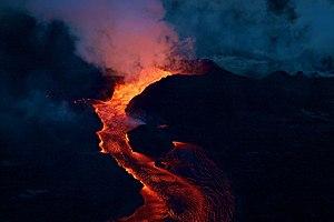 Kilauea Fissure 8 cone erupting on 6-28-2018.jpg
