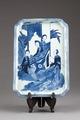 Kinesisk porslins bricka från 1690-1710 Kangxi-perioden under Qing-dynastin - Hallwylska museet - 95666.tif