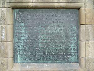 King's Own Scottish Borderers - Plaque commemorating the raising of Leven's regiment on Edinburgh Castle Esplanade
