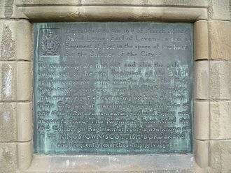 King's Own Scottish Borderers - Plaque commemorating the raising of Leven's regiment on Edinburgh Castle Esplanade