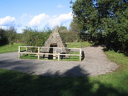 Richard's Well, where the last Yorkist king supposedly took a drink of water on the day of the battle. King Richard's Well.jpg