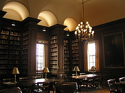 Kirby Library, with its oak-paneled bookcases, cork floor, and elaborate carvings, is located in the Kirby Hall of Civil Rights.