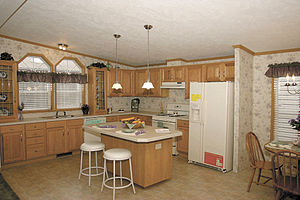 K Kitchens Ludlow 300px Kitchen in a Sectional Manufactured Home Hud Certified ...