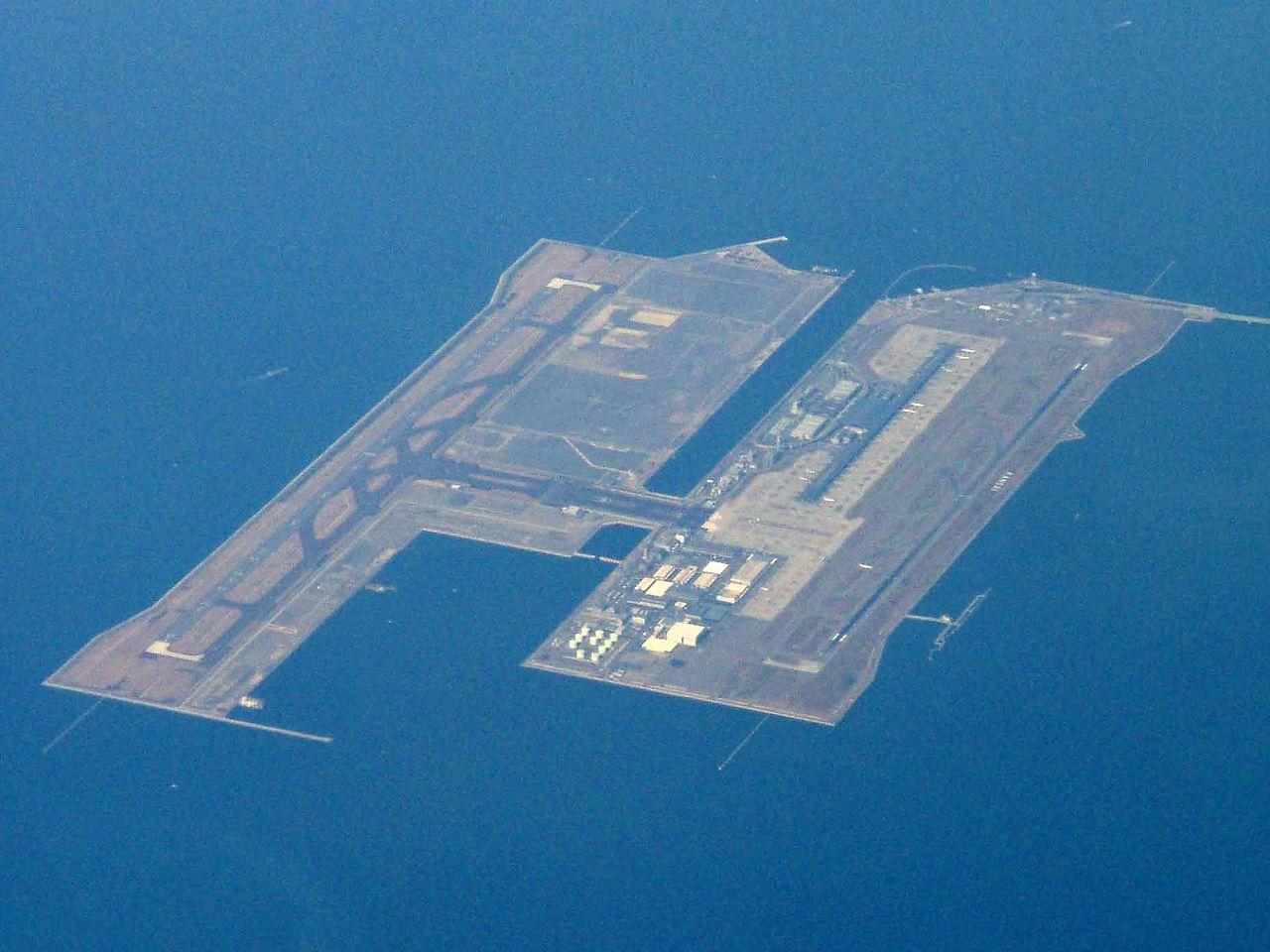 Aéroport - Kansai - Île artificielle - Japon - Osaka - SchoolMouv - Géographie - CM2