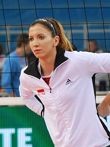 Klaudia Kaczorowska 01 - FIVB World Championship European Qualification Women Łódź January 2014.jpg