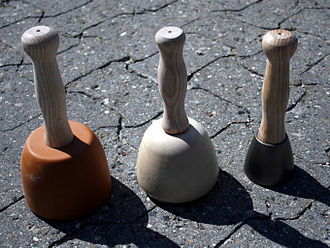 Mallet - Stonemason's mallets of plastic, wood and steel