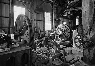 Knight Foundry - Two Knight lathes in the machine shop