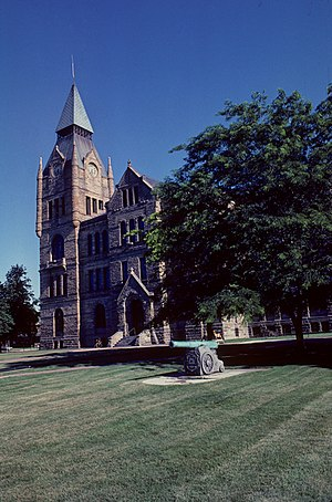 National Register of Historic Places listings in Knox County, Illinois - Image: Knox County Courthouse (Illinois) 1981