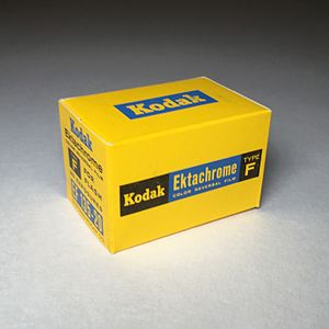 Ektachrome - Kodak Ektachrome F 35mm Slide Film, E-2 Process, Expired: February 1963