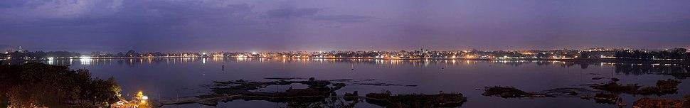 Kolhapur at night from Rankala