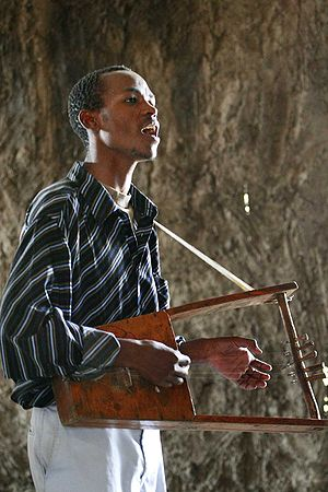 A krar player from Ethiopia