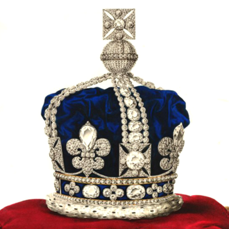 Crown of Queen Adelaide - Lithograph of the crown