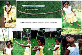 Kuttiyum kolum - Children playing this game in Kuttanad area