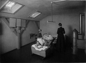 Prison nursery - The former prison in Christianshavn, Copenhagen, Denmark, demolished 1928.