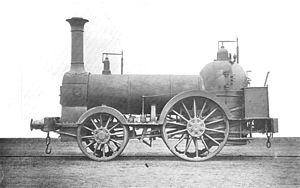 Haycock boiler - London & Birmingham Railway 2-2-0 Bury locomotive