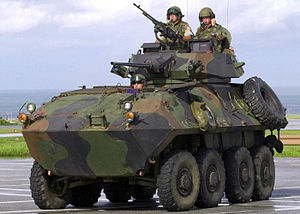 LAV-25 USMC and USAF personnel on patrol.jpg