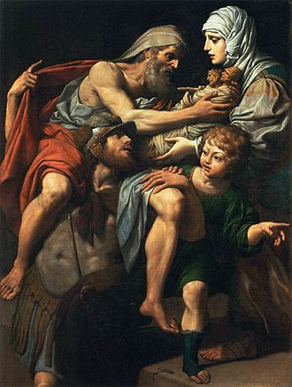 Leonello Spada - Image: L Spada Eneas y Anquises 1615 Louvre