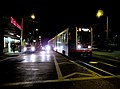 L Taraval train at 22nd Avenue at night, January 2011.jpg